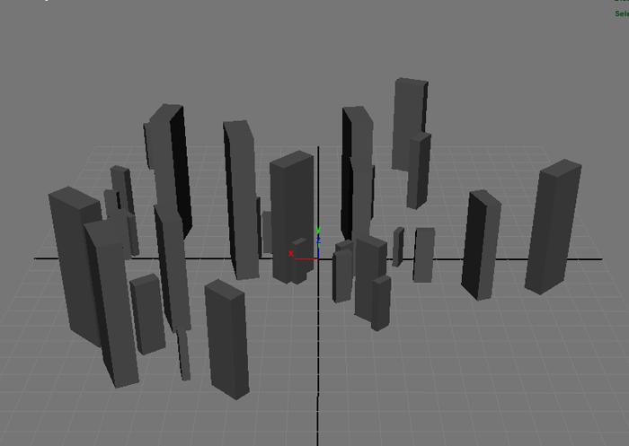 Maya 1個のオブジェクトから大きさ、角度、距離をランダムに変更して配置する「Randomize Transforms」の使い方