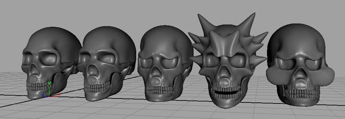 MAYA Deformer 顔のアニメーションを付けるのに便利なBlend shapeの使い方