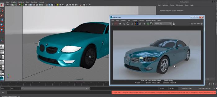 おすすめ!MAYA 曲面を作るにはNURBSが便利!BMWを作るチュートリアル動画