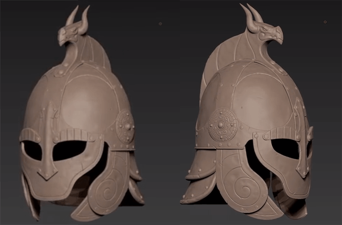 西洋のヘルメットを1からZbrushで作るハードサーフェースチュートリアル動画です!