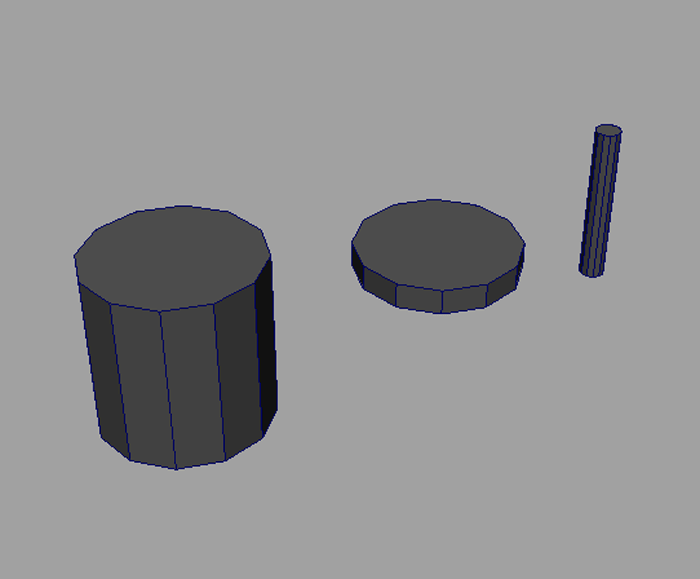 MAYA モデリング  ジオメトリーを縦に縮めるか、横に縮めるかはctrlを押す。
