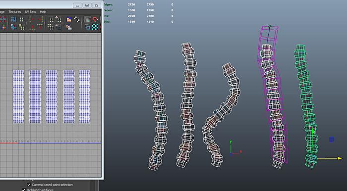 MAYAで1から色々な鉄筋をUVを壊さずにモデリングするチュートリアル記事を書きました!
