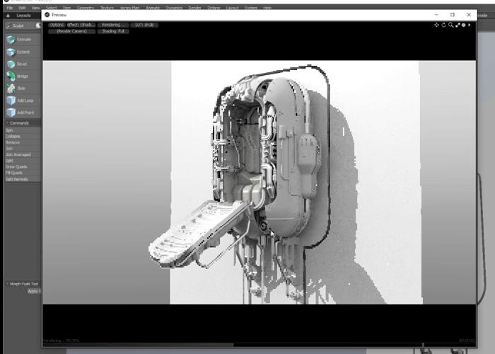 MODOで1時間50分で完成させる超絶モデリング術。ハイスピード動画じゃないよ。
