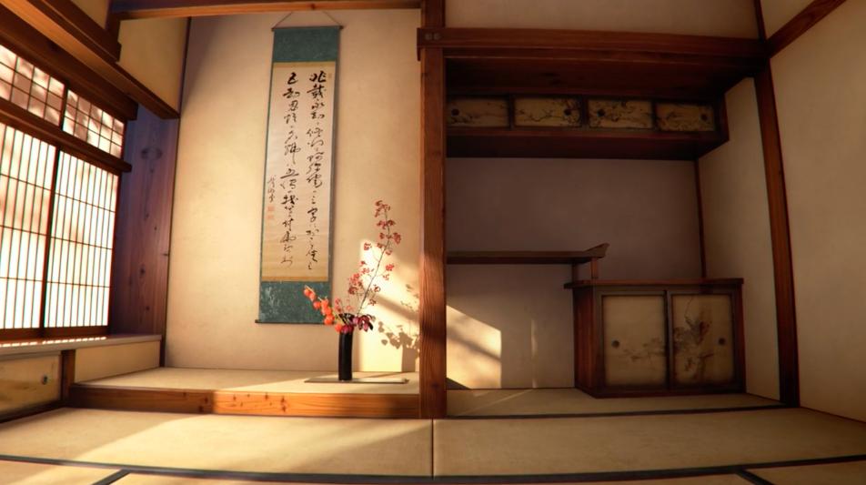 "3DCGで作られた和室や茶の間が綺麗な映像。""WABI-SABI"""
