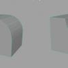 MAYA2016 べベルで作れる2つの形状。