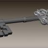 Zbrushでモデリングするレリーフのある鍵
