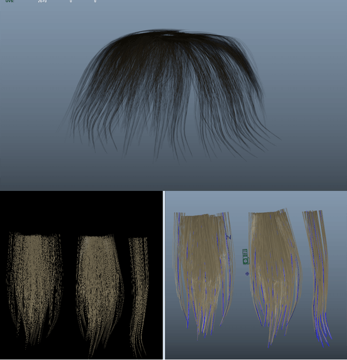 maya 髪の毛